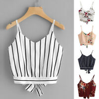 Sexy Summer Women Girl's Strap V Neck Short Vest Sleeveless Tops Shirts Blouse