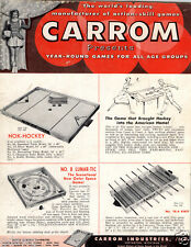 1959 PAPER AD Carrom Nok Hockey Lunar Tic Board Game Outer Space Kikit