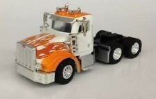 HO 1/87 Promotex # 6564 Peterbilt 367 White/Orange Tandem Axle Tractor Day Cab