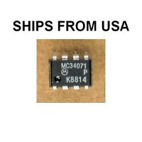 MC34071P / 34071P Op Amp Single Supply High Bandwidth 8 Pin Hi BW Amplifier NEW