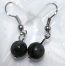 Neu Modeschmuck Damen Mädchen Ohranhänger Ohrringe Naturperle Grüner Jaspis #029