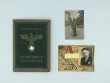 DEUTSCHES REICH - ARBEITSBUCH FUR AUSLANDER - WW2 - BELGIUM - GERMANY