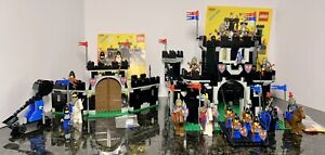 Vintage LEGO Castle Lot - Black Monarch's Castle 6085 & Knight's Stronghold 6059