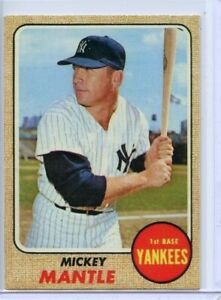 MICKEY MANTLE - NEW YORK YANKEES - BASEBALL CARD - FREE SHIPPING !!!!