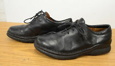 Wolky Womens Sz 40 Laced Black Leather Work Comfort Walking Oxfords Shoes