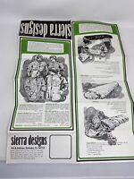 Vintage Sierra Designs Advertising Brochure 1960's Berkeley California