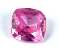 7-9 Carat Afghani Pink Kunzite Loose Gemstone Natural Cushion Cut AGI Certified