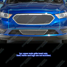 Fits 2013-2018 Ford Taurus W/SHO Logo Cover Stainless Steel Mesh Grille Inserts