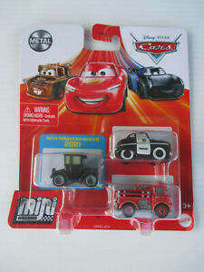 DISNEY PIXAR CARS MINI RACERS *LIZZIE,SHERIFF & RED The Fire Engine* NEW! 2021