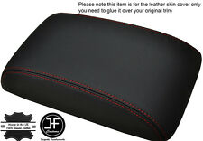 RED STITCHING FITS VW SCIROCCO 2008+ LEATHER ARMREST COVER LEATHER