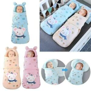 Newborn Blanket Swaddle Cotton Winter Warm Sleeping Bags Baby Stroller Wrap