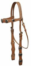 LIGHT OIL Western Leather Bridle & Reins Set W/ Star Conchos! NEW HORSE TACK!