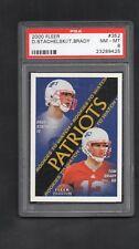 2000 Fleer Tradition - Tom Brady - New England Patriots - #352 - Rookie - PSA 8