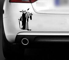 Star Wars Yoda Jedi Master Etiqueta Auto Camioneta 4x4 Parachoques, Ventana Etiqueta del vinilo