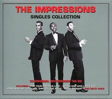 THE IMPRESSIONS SINGLES COLLECTION - 2 CD BOX SET - GYPSY WOMAN & MORE