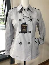 WOOLRICH WWC2467 Trenchcoat-Jacke Damen hellgrau Gr. S NEU