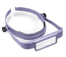 Donegan Optical OptiSight W/3 Lens Plates 3X 4X 5X Head Visor Magnifying Purple