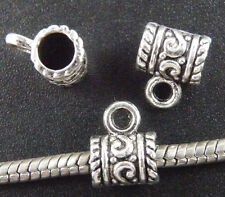 80pcs Tibetan Silver Nice Large Hole Bails 11.5x9x7mm 8011