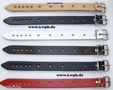 6 Leather Belt Ancient Brown Mocca 2,0 x 24,0 cm Pushchair Pendant Vehicle