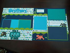 """Brothers 2 Page 12""""x12"""" Scrapbook Layout It's a Zoo in Here Scrapbook Pages"""