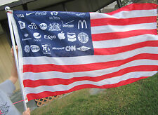 Corporate America American Flag Banner NWO Police state OCCUPY 99% ANONYMOUS