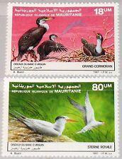 MAURITANIA MAURETANIEN 1987 923-24 634-35 Birds from Natl. Park Vögel Fauna MNH