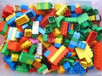 50x  Lego Duplo Steine mit vielen Bunte farben # GEWASCHEN #