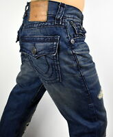 True Religion $329 Men's Ricky Mended Freight Straight Super T Jeans - M859NZT6