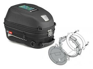 Honda CBR600RR from Yr 03 Givi ST603 15L Motorcycle Tank Bag Ring Set New