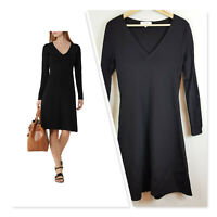 [ REISS ] Womens Black Emelia Knitted Fit&Flare Dress | Size AU/UK 10 or US 6