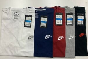 Mans Nike Logo T-Shirt Sports Top Retro Fitted Cotton Tee Size S,M,L,XL,XXL-SALE