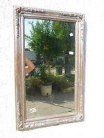 Antica Specchiera RETTANGOLARE Specchio Mercurio FOGLIA ARGENTO cm 94x58 n 42
