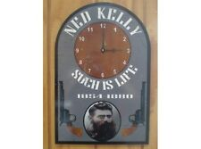 NEW Ned Kelly Clock tin metal sign