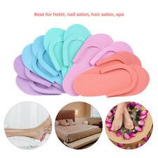 10pcs Disposable Slippers EVA Foam Salon Spa Slipper Pedicure Thong Slippers new