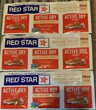Red Star Active Dry All Natural Yeast 9 Packets (1/4 Oz) Each Expires 03/2022
