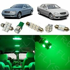 19x Green LED lights interior package kit for 1998-2006 Mercedes S-Class ZS1G