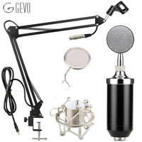 GEVO BM 8000 Condenser Microphone Studio Recording Wired Pc Computer Mic With