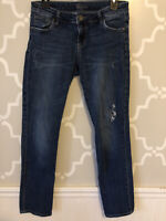 KUT from the Kloth Straight Skinny Mid-Rise Med Wash Jeans Women's Size 6