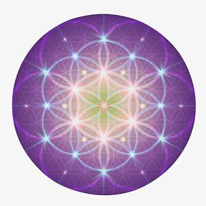 Sacred Geometry Area Rug purple Rug spiritual Rug flower of life Floor Rugs