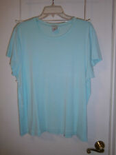 L@@K OLd Navy Sz XXL Aqua Scoop Neck T Well Made Cool Summer Color & Style Nice