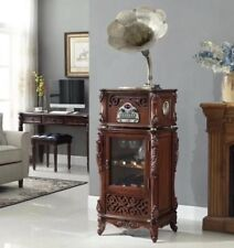 More details for gramophone retro vinyl record player home bluetooth wine cabinet can delivery