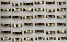 35pcs Stainless Steel Rings For Men Black Enamel Rings Fashion Jewelry AH682