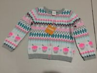 NWT Gymboree Ice Dancer Cupcake Sweater Cardigan Jacket Girls