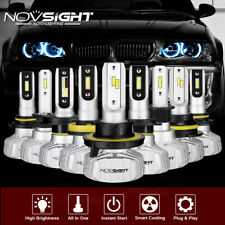 NOVSIGHT 2X H4/H7/H11/9006/9005 50W 10000LM LED Headlight Kit Car Bulbs 6500K UK