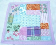 Pottery Barn Hibiscus Surf Pink Quilted Patchwork Floral Euro Pillow Sham PBTeen