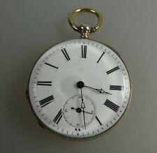 Schöne offene Herrentaschenuhr Schlüsselaufzug Silber um 1880 (63222)