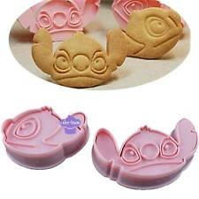 2pcs Set DIY 3D Stitch Baby Shower Cookie Cutter Baking Stencil Mould Sugar Tool