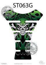 flamme Skull KAWASAKI vert 3D GEL Moto réservoir moto graphique protection