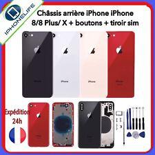 CHÂSSIS ARRIÈRE COQUE IPHONE 8/8 Plus/X  ROUGE/NOIR/BLANC/OR+OUTILS (CE,logo...)
