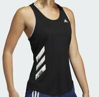 Adidas Originals Women's Run 3-Stripes PB Top NEW AUTHENTIC Black/White FP7538